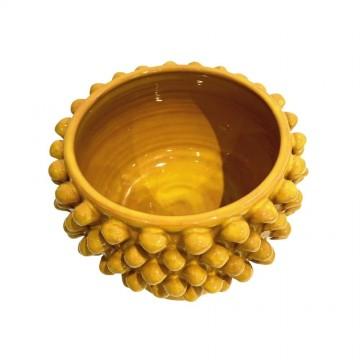vaso giallo pigna siciliana