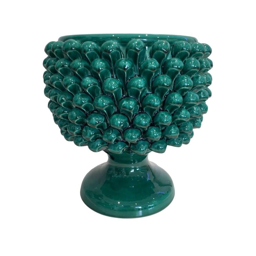 green Sicilian pine cone vase