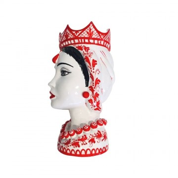 Moor's head red woman left profile