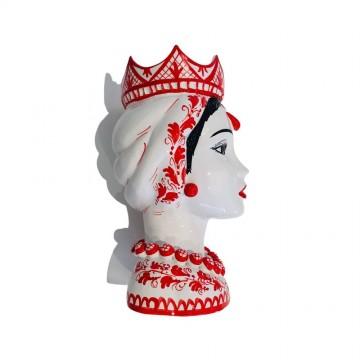 Testa di moro donna rossa profilo destro