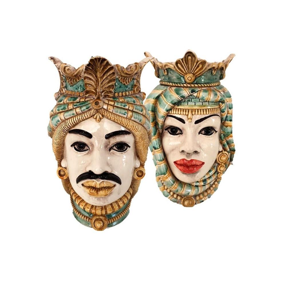 Pair of Sicilian Moor's Heads