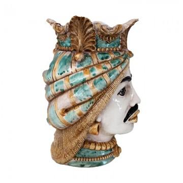 Sicilian Moor's Head Man right profile
