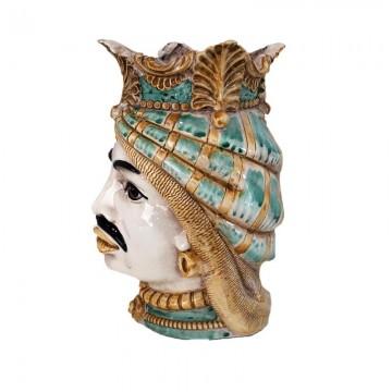 Sicilian Moor's Head Man left profile