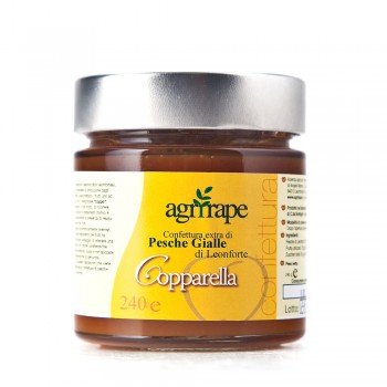 Extra jam of yellow peaches from Leonforte 280g-