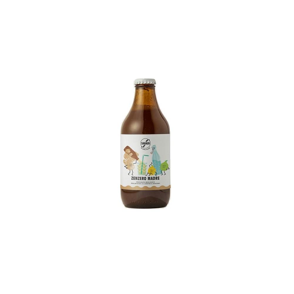 Organic mix for a ginger lemon soda – Zenzero madre 330ml -