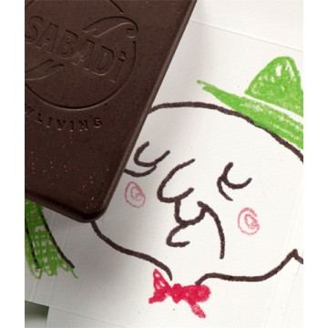 Organic cold-worked chocolate with milk and coffee NONNO 50g -