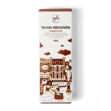 Toasted nougat with Noto almonds and Muscovado sugar 100g -