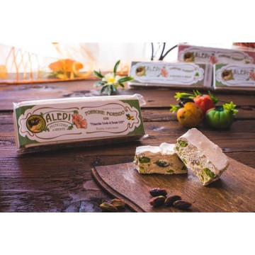 Soft nougat with green pistachio from Bronte DOP 150g -